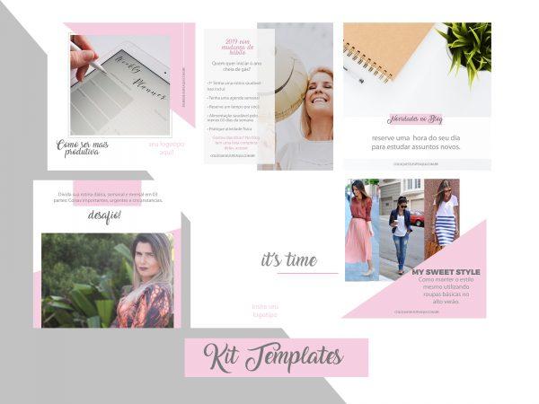 Kit Template Rosa Suelen Correa
