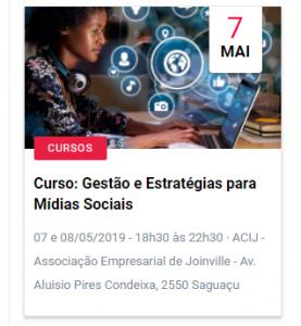 Curso Midias Sociais em Joinville Suelen Correa