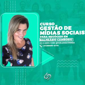 Curso de midias sociais em Balneário Camboriu Suelen Correa