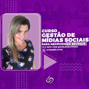 Curso de midias sociais em Brusque Suelen Correa